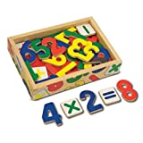 Melissa & Doug 37 Wooden Number Magnets in a Box
