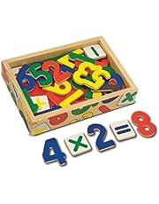 Save on Melissa & Doug - Juego de números magnéticos de madera, 37 piezas (10449) and more