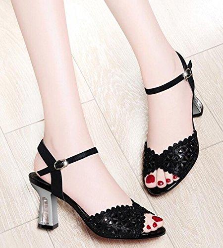de Mujeres Sandalias Verano de Mujer Zapatos Sandalias Sandalias de de Las de Sandalias Punta tac Abierta dtwEW1qd