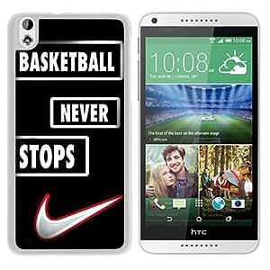 Popular Custom Designed Case For HTC Desire 816 With Basketball Never Stops Jordan Slam Dunk White Phone Case