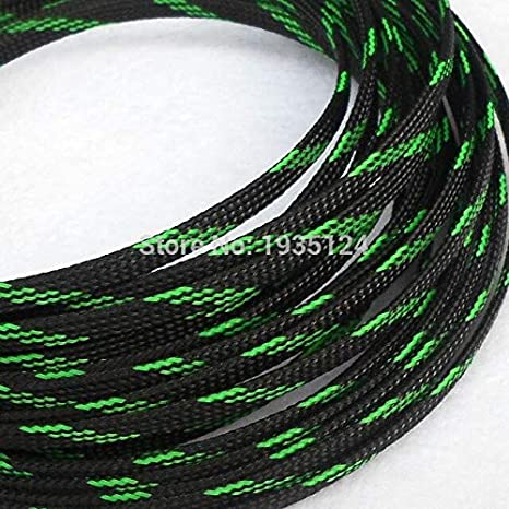 Black Tight Braided PET Expandable Sleeving Cable Wire Sheath lot