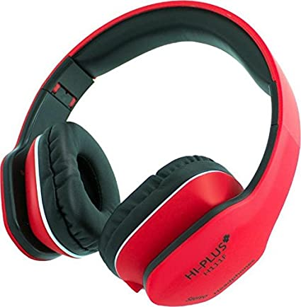 HI Plus H111F_Red Wired Headphone  Red, Over The Ear  Born for Music Headphones