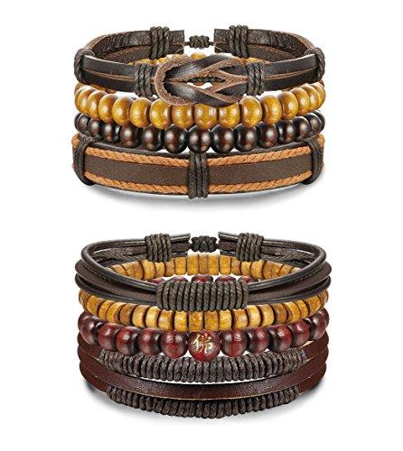 Jstyle Leather Bracelet Bracelets Wristbands