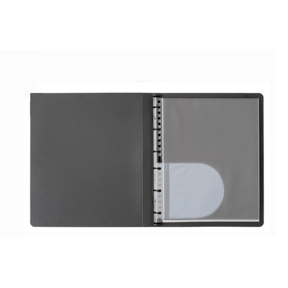 Prat Paris Start Presentation Book, Spiral Bound with Ten 17'' x 11'' Archival Sheet Protectors, Cover Color: Black.