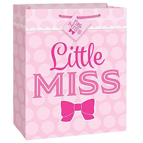 Pink Bow Little Girl Gift Bag -