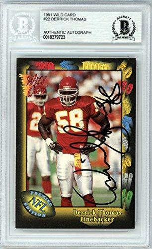 Kansas City Chiefs Wild Card - Derrick Thomas Autographed 1991 Wild