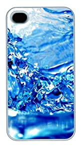 iPhone 4S/4 Case Cover - Water Blue Background New Design iPhone 4S/4 Case and Cover - Polycarbonate - White