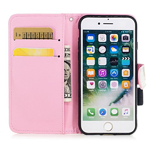 [4.7] Handyhülle iPhone 7,Handyhülle iPhone 8,BtDuck Ultra Slim Weich Silikon Cover Innere mit Standfunktion Bookstyle Tasche Magnet Leder Schutztasche Schutzhülle für iPhone 7/iPhone 8 Handytasche M iPhone 7/8-Ananas Kreativ