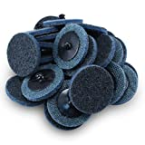 2'' Black Hawk Blue Surface Conditioning Quick Change Discs Fine Prep Pad - 25 Pack