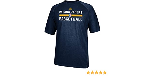 b55771115cb Amazon.com : Indiana Pacers Navy Heather Climalite Practice Short Sleeve  Shirt by Adidas : Sports & Outdoors