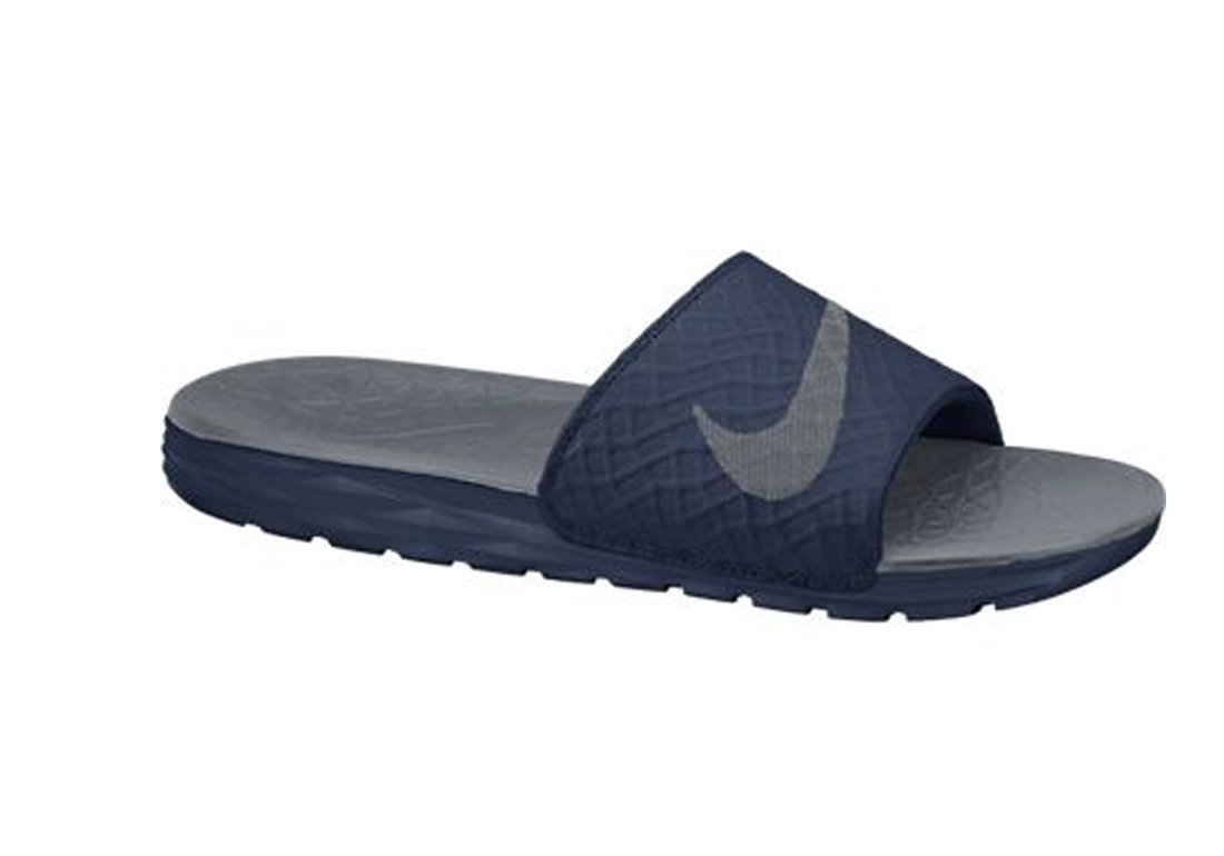 NIKE Women's Benassi Solarsoft Slide Sandal B00K5ZQF54 11 B(M) US|Midnight Navy/Cool Grey
