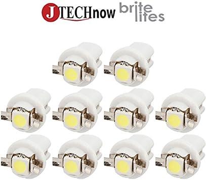 T5 sur culot LED SMD Blanc White Neo Wedge 50x Ampoule B8.3D BX8.3D BAX10S