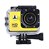 ZIYUO Full HD 1080P 4K Sports Action Camera 2.0 inch Ultra HD TFT LCD screen Waterproof DV Recorder shooting 30 meters under water Ultra Wide Angle Lens and Portable Package YE