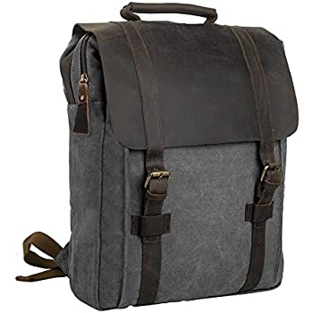 Amazon.com: Cuero Leather Backpack College Backpack Leather ...