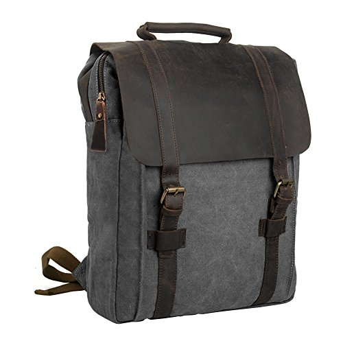 Travel Outdoor Computer Backpack Laptop Bag (Grey) - 7