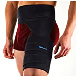 DenSports Hip Brace Adjustable Groin Support Compression Recovery Thigh Wrap