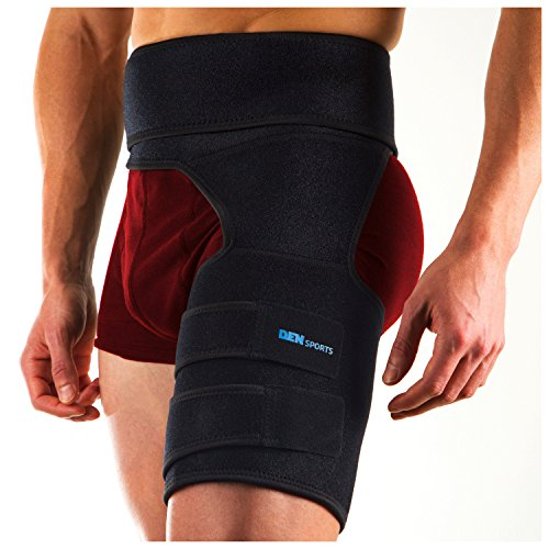 DenSports Adjustable Groin Support Compression Recovery Thigh Wrap Compression Wrap