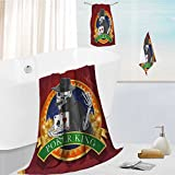 Miki Da superior bath towel set Skull Casino Background with Dead Skeleton Poker King Gambler Vegas Soft, Extremely Absorbent 13.8''x13.8''-11.8''x27.6''-27.6''x55.2''