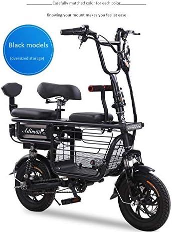 ZZKK Bicicletta elettrica Mini Pieghevole Due Rotonde