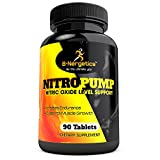 B-Nergetics Nitropump Pre Workout Support - 90 Tablets - Potent 3000mg L-Arginine Blend for Strong Muscle Growth, Strength, Endurance - bodybuilding enhancement supplement