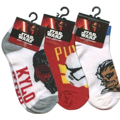 Star Wars Episode VII - No Show/Anklet Socks, Child Size 6-8.5, 3 (New Stormtrooper Outfit)