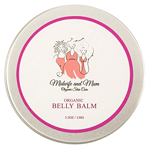 Helps Prevent Stretch Marks- Mom Designed & Midwife Approved - Shea Butter/Coconut Oil-Tummy Butter to Soothe Dry Itchy Skin - Safe for Babies, Children, Pregnancy & Postpartum ()