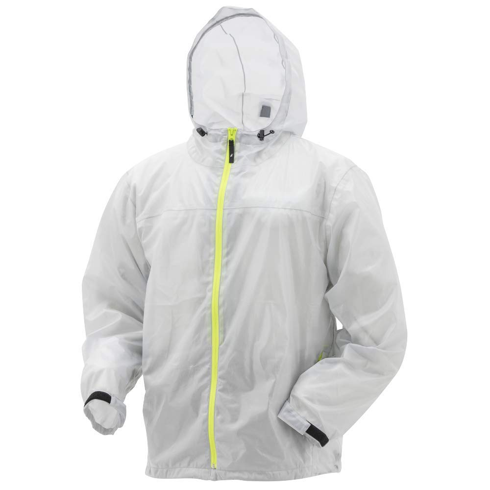 Large Smoke//Hi-Vis Frogg Toggs Xtreme Lite Waterproof Rain Jacket