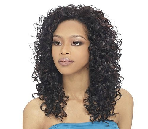 [OUTRE Synthetic Hair Half Wig Quick Weave Bella s1b/30] (Belle Wigs)