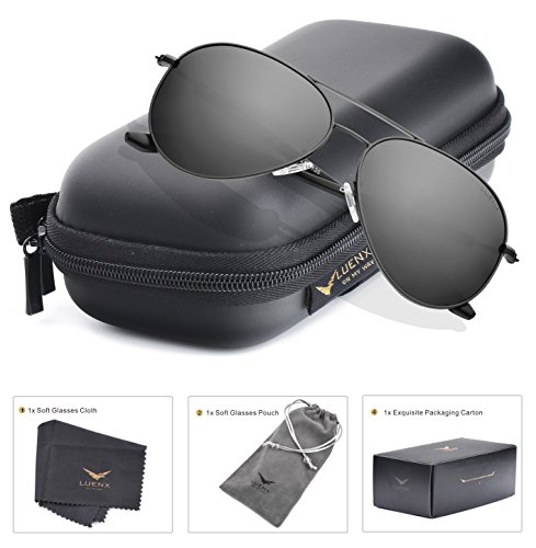 LUENX-Aviator-Sunglasses-Polarized-for-Men-Women-with-Sun-Glasses-Case-UV-400