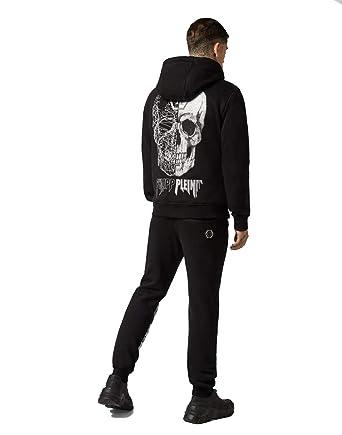 576547c38ac Philipp Plein - Sweat-Shirt à Capuche - Manches Longues - Homme Noir Noir -