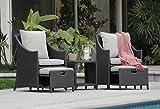 Cheap Serta Laguna Outdoor 5 Piece Set Brown Wicker with Beige Cushions