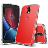 Ringke [Fusion] Compatible with Moto G4 Case, Moto G4 Plus Case Crystal Clear Transparent PC Back Silicone Bumper Shock Absorption Protective Cover for Motorola Moto G 4, Moto G 4 Plus 2016 - Clear
