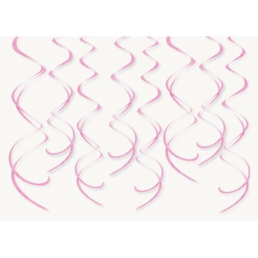 1 Pack. 'Plastic Swirls' im 8er-Pack., rosa, ca. 14 cm Ø, ca. 66 cm lang ca. 14 cm Ø