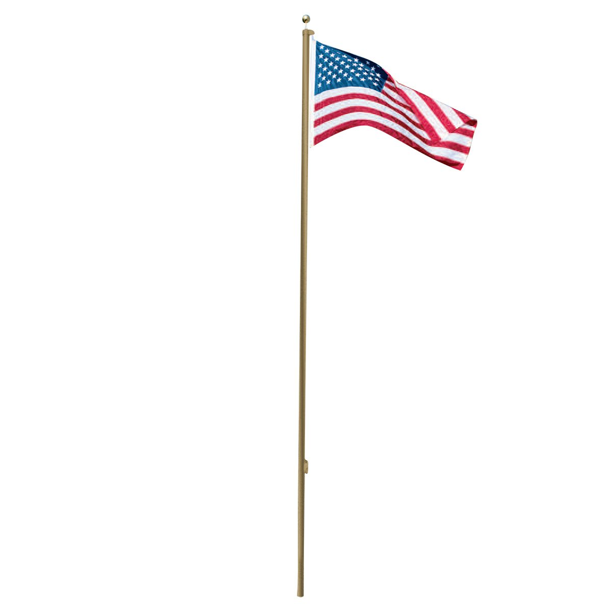 Super Tough 25ft Outdoor Flagpole - 4'x6' USA Valley Forge Flag (Bronze)