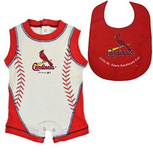 Major League Baseball Fan Shop Authentic MLB Baby Body Suit Onesie Romper and Bib Bundle Set (St Louis Cardinals, 12 Months) - Mens Dallas Cowboy Pajama Pants