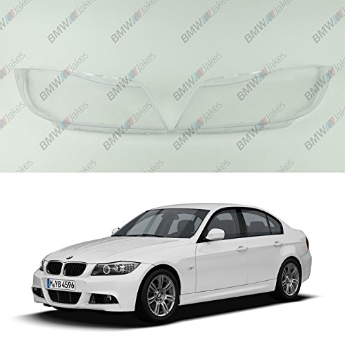 New Original Headlight Headlamp Lens Plastic Cover PAIR BMW 3 E90 / E91 Xenon BimmerJakes