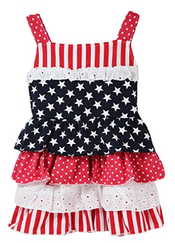 Wholesale Princess Girls Fourth of July Party Dresses (3T, Eyelet ()