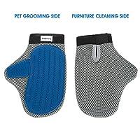 Pet Gloves, DeDeSoon Pet Glove, Furniture Pet Hair Remover Mitt, For Cat & Dog - Long & Short Fur, Gentle Deshedding Brush