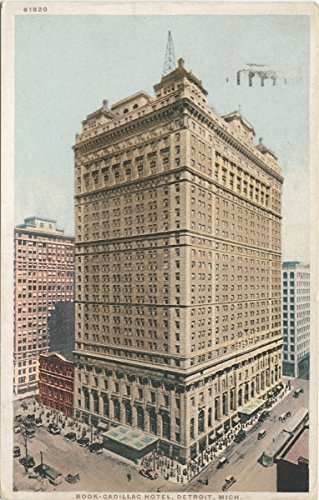 Historic Pictoric Postcard Print   Book - Cadillac Hotel, Detroit, Mich, 1898   Vintage Fine Art ()