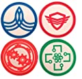 New Horizons Production The Orville Set of 4 Chest Symbol PVC Cosplay Pin Set
