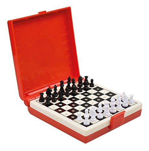 Idena 40419 - Reisespiel Dame und Schach, bunt