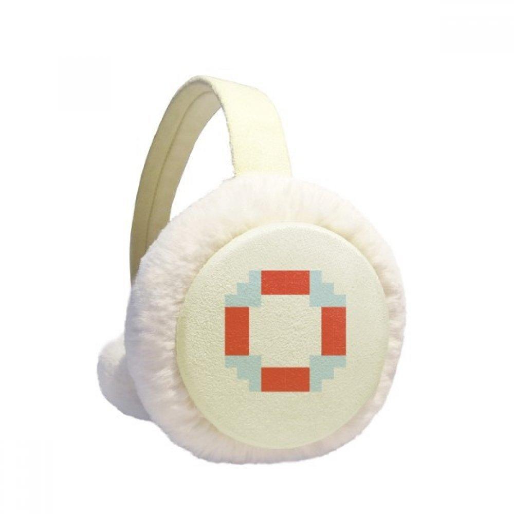 Summer Sail Life Buoy Pixel Winter Earmuffs Ear Warmers Faux Fur Foldable Plush Outdoor Gift