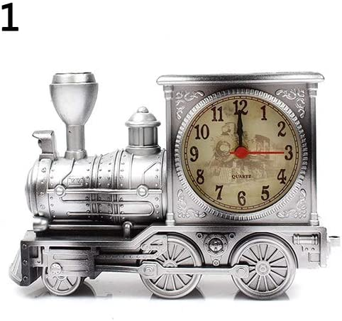 Caodande Dessin Anime Locomotive Train Reveil Antique Moteur