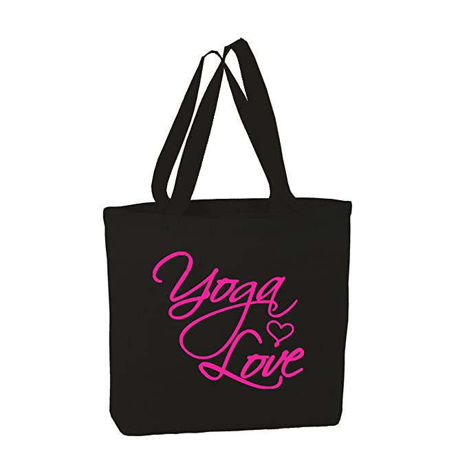 Amazon.com: Daily Tote Bag For Yoga Lovers, Fancy Love Yoga ...