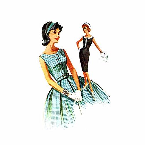 [1950s Full Circle Skirt Advance 6688 Vintage Sewing Pattern Waist 28] (Advance Skirt)