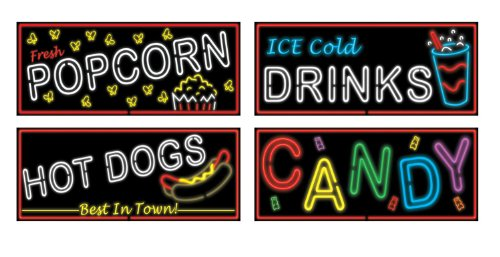Neon Food Sign Cutouts   (4/Pkg)]()