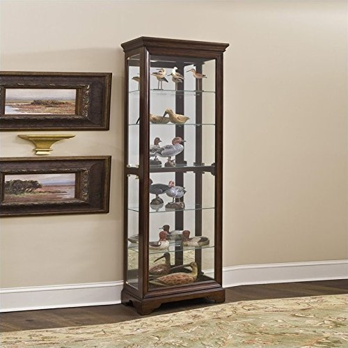 (Pulaski Curio, 29 by 15 by 80-Inch, Brown)
