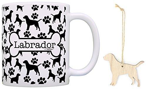Labrador Christmas Ornament & Labrador Coffee Mug Tea Cup Bundle Dog Lover Stocking Stuffer