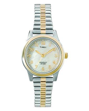 Timex Dressy Ex T2M828 - Reloj de cuarzo para mujeres, correa de acero inoxidable, bicolor: Timex: Amazon.es: Relojes