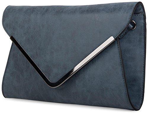 Soirée Couleur Bleu Dragonne Et 02012047 Bandoulière Avec Sac Stylebreaker Femmes noir Enveloppe Foncé Pochette Dessin Enveloppe De xqnpFOIZw